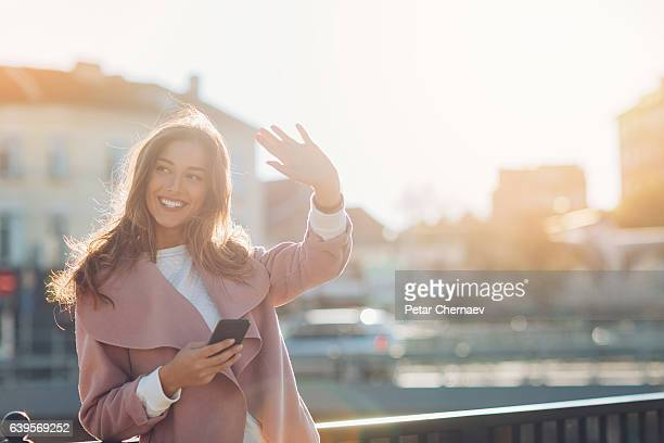 hello! - waving gesture stock photos and pictures