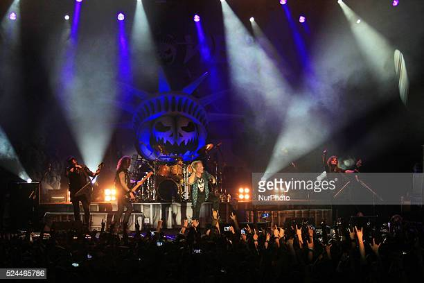 helloween band on October 22 2015 Power metal band from Hamburg Northern Germany Helloween perform live in Jakarta Thursday 22 October 20015 The band...