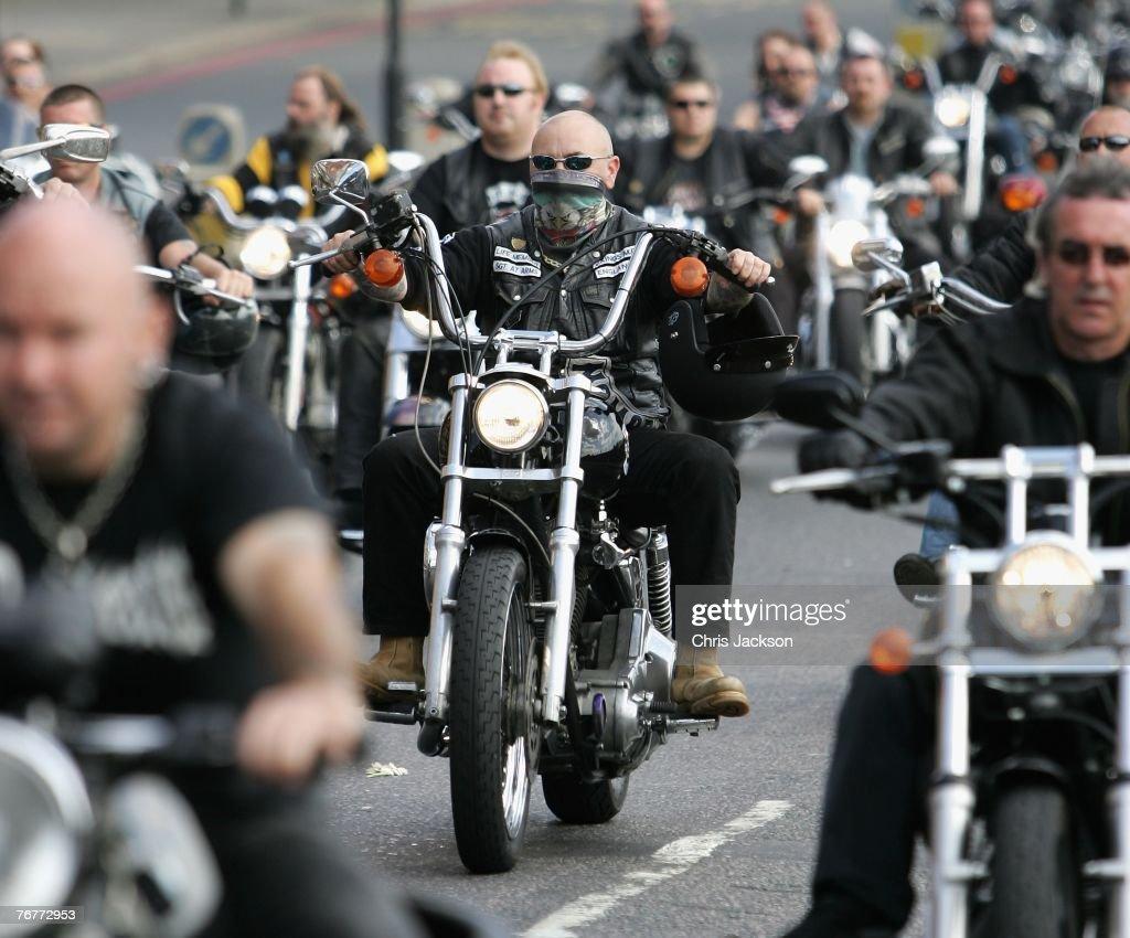 Funeral For Murdered Hells Angel Gerard Tobin : News Photo
