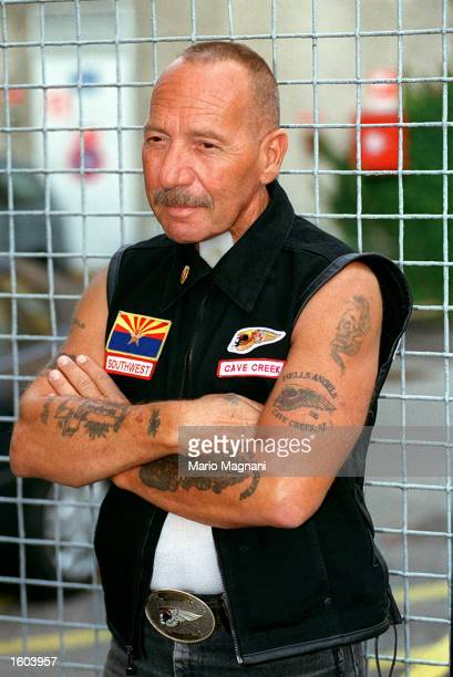 Hell''s Angel Ralph Sonny Barger appears at a book signing July 18 2001 in Milan Italy The story of a uniquely American subculture and the wild...
