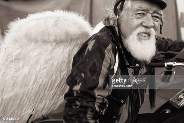 Hell's Angel Wearing Angel Wings