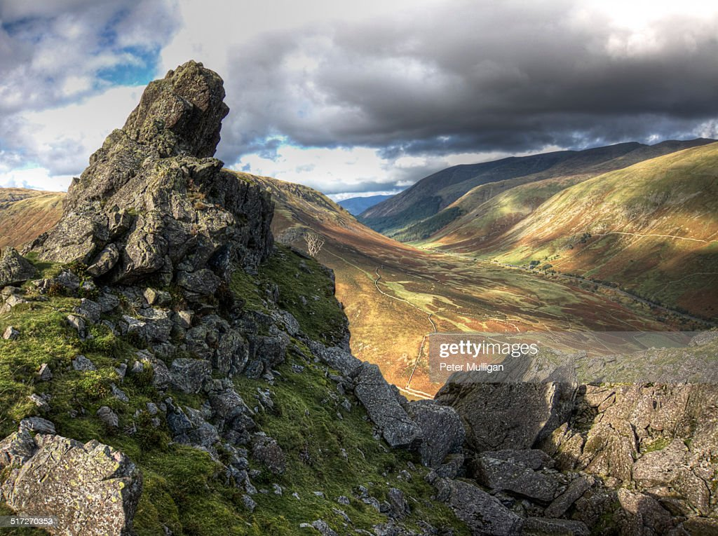 Helm Crag summit in the English Lake District : Stock Photo