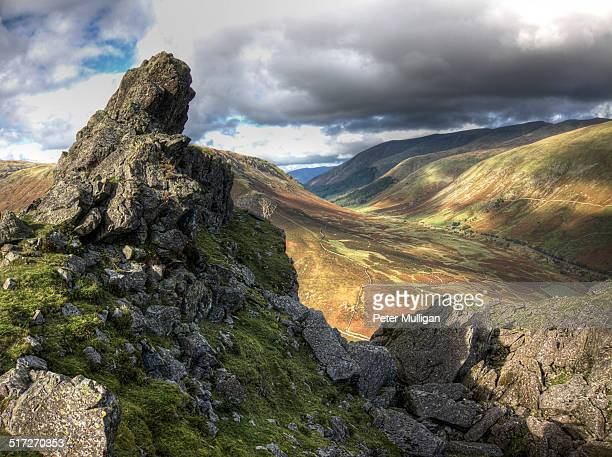 Helm Crag summit in the English Lake District