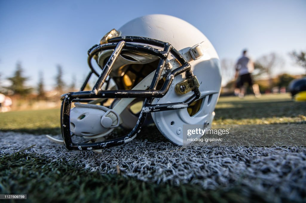 Helmet for American Football : Stock Photo