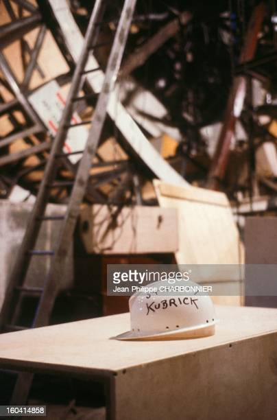 Helmet of American film director Stanley Kubrick on the set of the movie '2001 A Space Odyssey' 1968 in United Kingdon