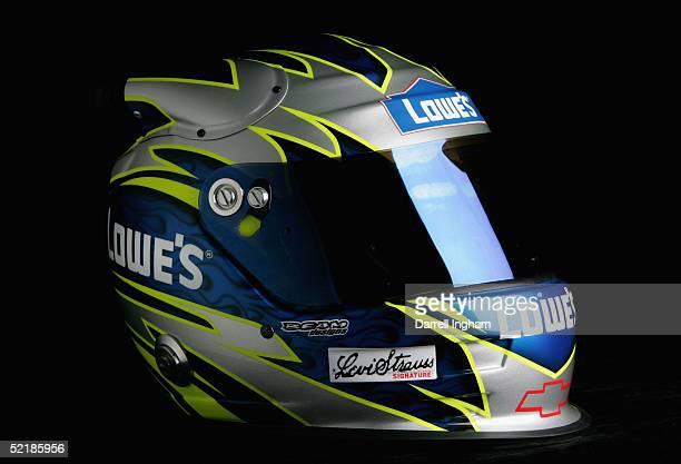 Helmet of Jimmie Johnson driver of the Hendrick Motorsport Lowe's Chevrole at the NASCAR Nextel Cup Daytona 500 on February 11 2005 at the Daytona...