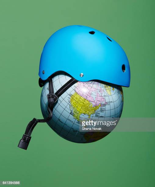 Helmet on a Globe