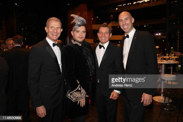 Helmut Andreas Hartwig Nils Wanderer Michael Mronz and Arndt Hartwig attend the 8th Opera Gala Bonn for the benefit of the German AIDS Foundation at...