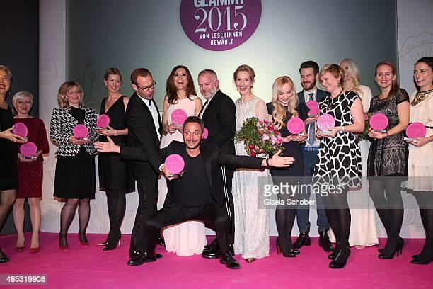 Helmut Baurecht, CEO of Artdeco Cosmetic, Corinne Hollaender, Bart de Boever, Gabriele Medingdoerfer, Paul Percifal, Adam Reed, Editor in chief of...