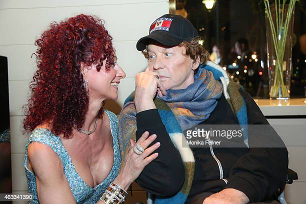 Helmut Berger and CHristina Lugner attend the Champagne And Oyster Reception in Hotel Le Meridien on February 12 2015 in Vienna Austria