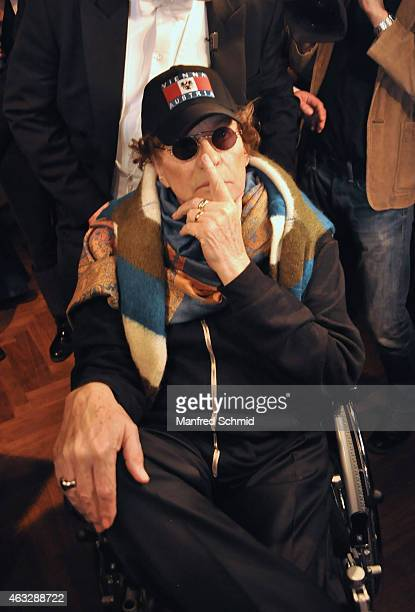 Helmut Berger arrives to Champagne And Oyster reception ahead of the Opernball at Le Meridien Hotel on February 12 2015 in Vienna Austria