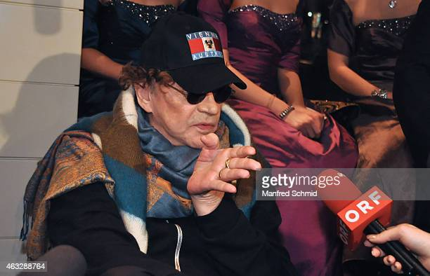 Helmut Berger attends the Champagne And Oyster reception ahead of the Opernball at Le Meridien Hotel on February 12 2015 in Vienna Austria