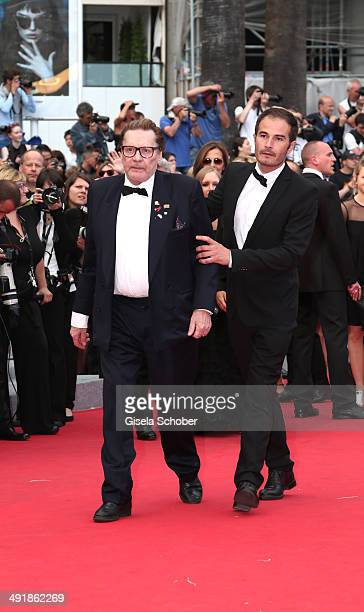 Helmut Berger attends the 'Saint Laurent' premiere during the 67th Annual Cannes Film Festival on May 17 2014 in Cannes France