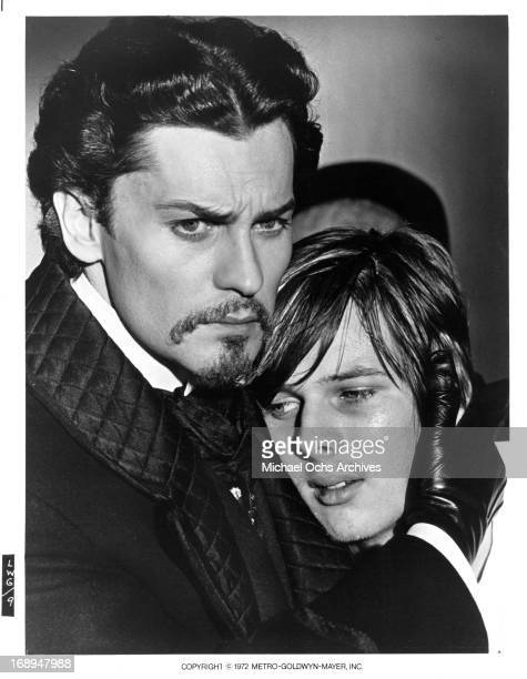 Helmut Berger comforts his brother John Moulder Brown in a scene from the film 'Ludwig' 1972