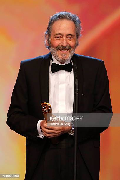 Helmut Dietl receives an Lola award for life achievement at the Lola German Film Award 2014 at Tempodrom on May 09 2014 in Berlin Germany