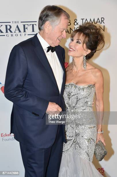 Helmut Huber and Susan Lucci attend the Elton John AIDS Foundation Commemorates Its 25th Year And Honors Founder Sir Elton John During New York Fall...