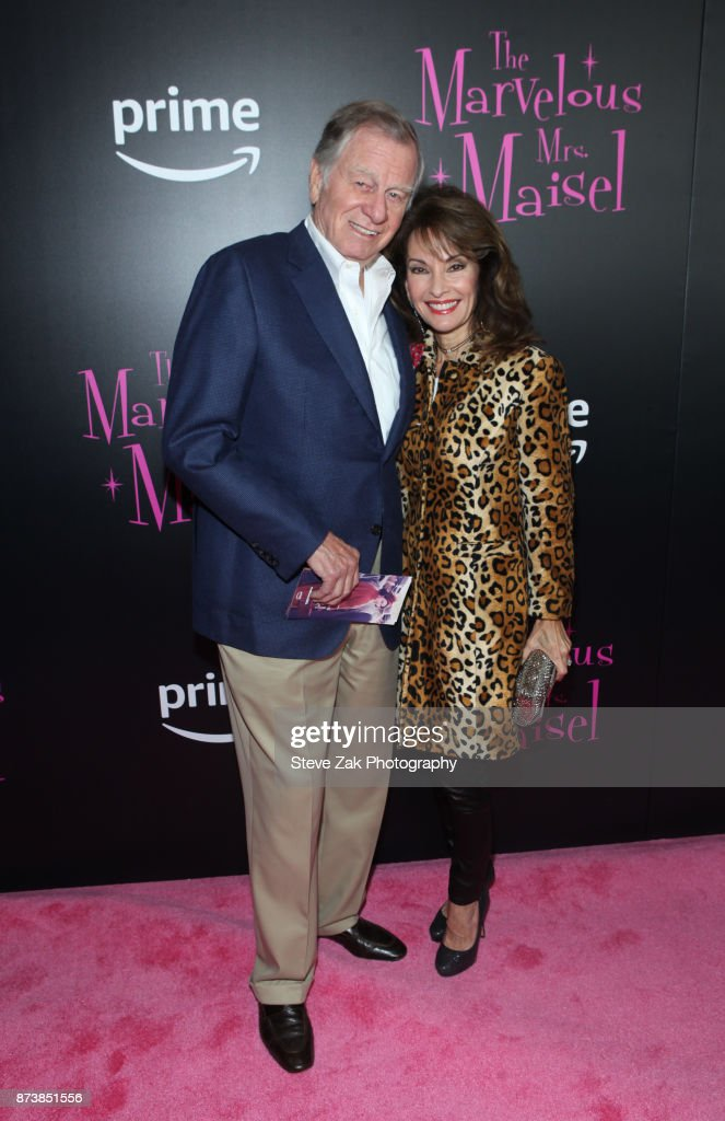 Helmut Huber and Susan Lucci attend 'The Marvelous Mrs. Maisel' New York Premiere at Village East Cinema on November 13, 2017 in New York City.