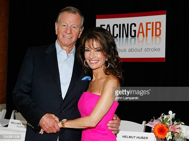 Helmut Huber and Susan Lucci attends the Facing AFib press conference at Pulse Restaurant on September 23 2010 in New York City