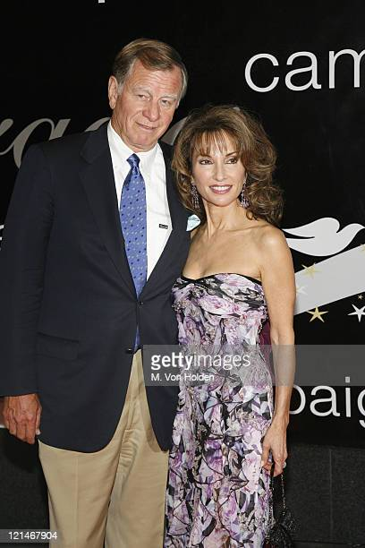 Helmut Huber and Susan Lucci during 31st Annual American Women in Radio Television Gracie Allen Awards at Marriott Marquis Hotel in New York New York...