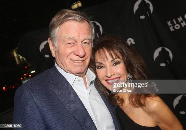 Helmut Huber and Susan Lucci pose at the opening night of King Kong on Broadway at The Broadway Theatre on November 8 2018 in New York City