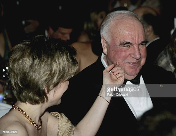 Helmut Kohl former German Chancellor and Maike Richter attend the Opera Ball at Alte Oper on February 25 2006 in Frankfurt Germany