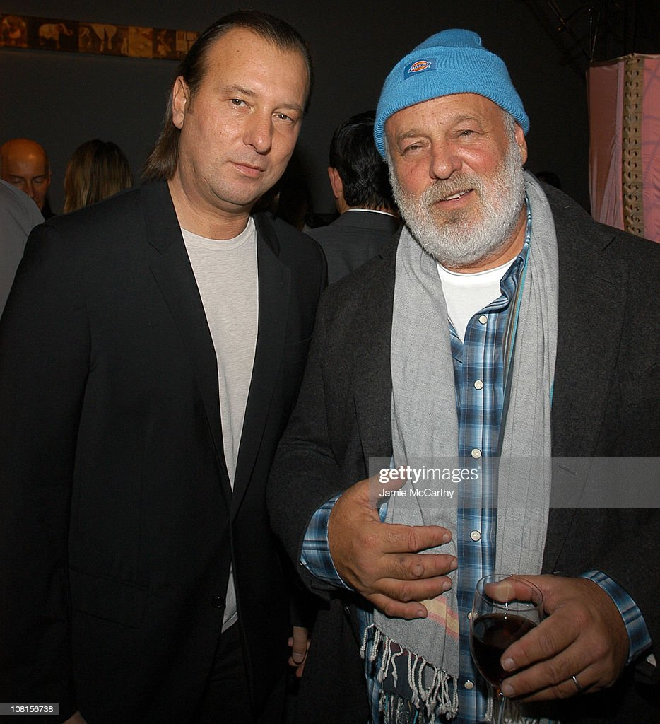 Helmut Lang and Bruce Weber during W Magazine Trunk Show at 545 West 22nd Street in New York City, New York, United States.