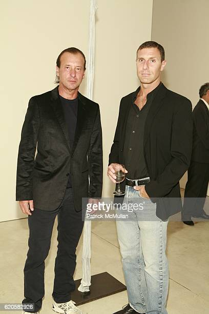 Helmut Lang and Edward Pavlick attend LOUIS XIII Celebrates WALLPAPER'S Guest Editor LOUISE BOURGEOISE with HELMUT LANG at Cheim Reid and Glasshouses...