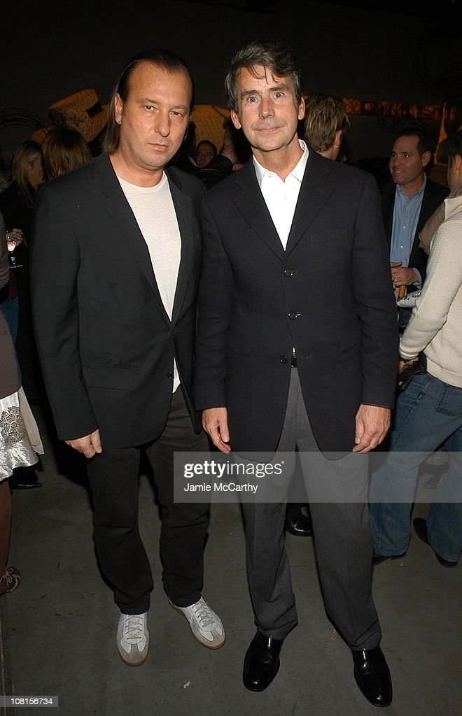 Helmut Lang and Patrick McCarthy during W Magazine Trunk Show at 545 West 22nd Street in New York City, New York, United States.