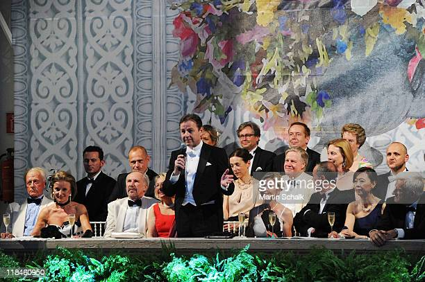Helmut Lohner organizer Elisabeth Guertler Austrian national bank governor Ewald Nowotny and his wife Ingrid Austrian environment minister Nikolaus...