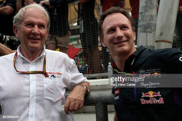 Helmut Marko Christian Horner Grand Prix of Malaysia Sepang International Circuit 30 March 2014 Red Bull Racing's bosses Hemut Marko and Christian...