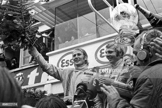 Helmut Marko Gijs van Lennep 24 Hours of Le Mans Le Mans 13 June 1971 Helmut Marko and Gijs van Lennep after their victory in the 1971 24 Hours of Le...