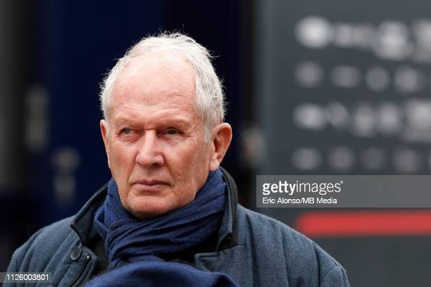Helmut Marko of Red Bull Racing during day three of F1 Winter Testing at Circuit de Catalunya on February 20 2019 in Montmelo Spain