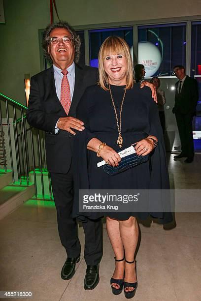Helmut Markwort and Patricia Riekel attend the Bertelsmann Summer Party at the Bertelsmann representative office on September 10 2014 in Berlin...