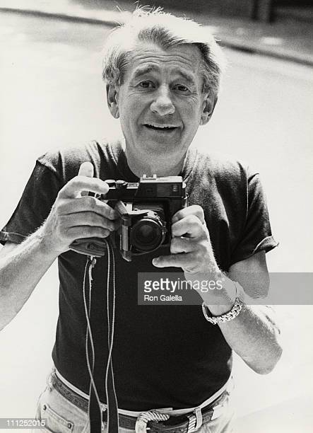 Helmut Newton during Helmut Newton Photo Session With Ron Galella at Chateau Marmont in Hollywood California United States