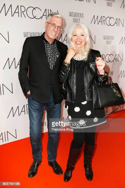 Helmut Schlotterer and his wife Ute Schlotterer during the Marc Cain Fashion Show Berlin Autumn/Winter 2018 at metro station Potsdamer Platz on...