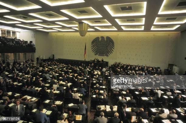 Helmut Schmidt est élu chancelier au Bundestag, assemblée fédérale, le 16 mai 1974 à Bonn, ex-RFA, Allemagne.