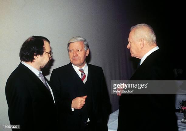 Helmut Schmidt Wolfgang Kieling Gert Fröbe 60Geburtstagsfeier von Wolfgang Kieling