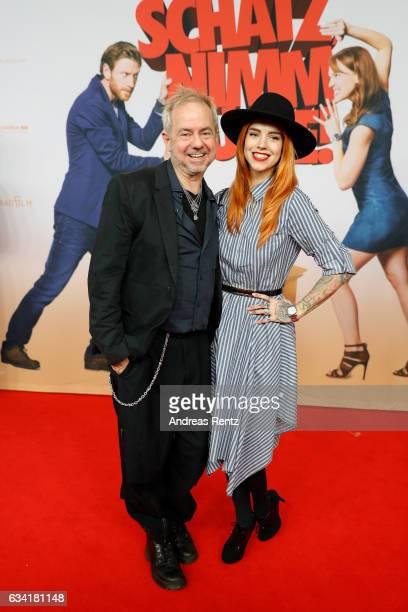 Helmut Zerlett and his daughter Jana Zerlett attend 'Schatz Nimm Du sie' German movie premiere at Cineplex Cologne on February 7 2017 in Cologne...