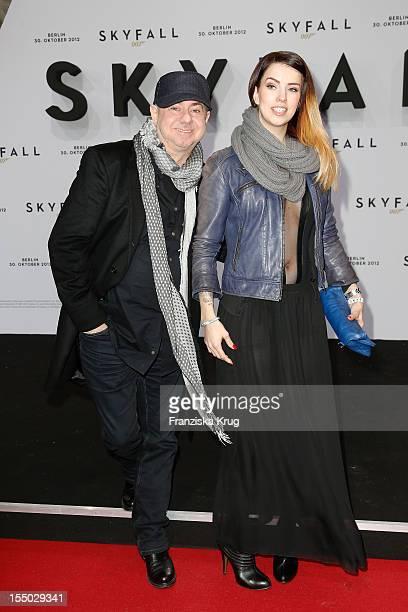 Helmut Zerlett and Jana Zerlett attend the 'Skyfall' Germany Premiere at Theater am Potsdamer Platz on October 30 2012 in Berlin Germany