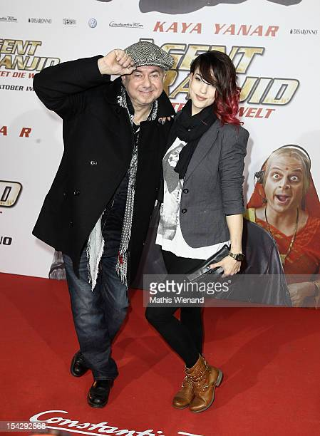 Helmut Zerlett with daughter Jana attend the 'Agent Ranjid' Germany Premiere on October 17 2012 in Cologne Germany