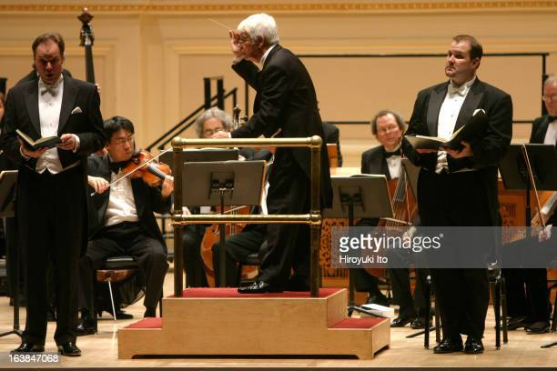 Helmuth Rilling conducts Carnegie Hall Festival Chorus and Orchestra of St Luke's in JS Bach's St Matthew Passion at Carnegie Hall on Saturday night...