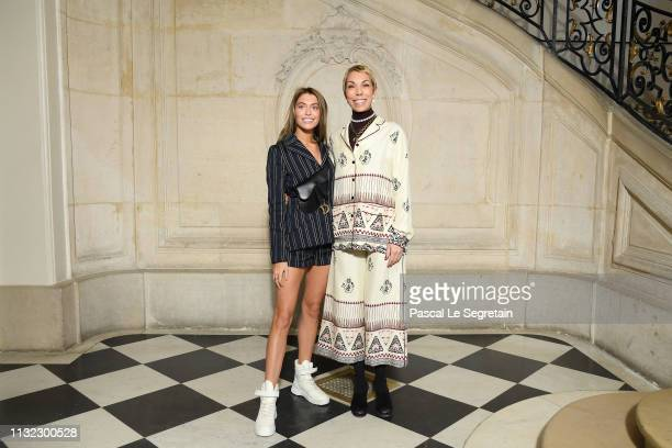 Heloise Agostinelli and Mathilde Favier attend the Christian Dior show as part of the Paris Fashion Week Womenswear Fall/Winter 2019/2020 on February...