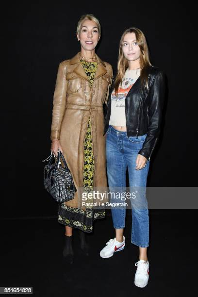 Heloise Agostinelli and Mathilde Favier attend the Lanvin show as part of the Paris Fashion Week Womenswear Spring/Summer 2018 on September 27 2017...