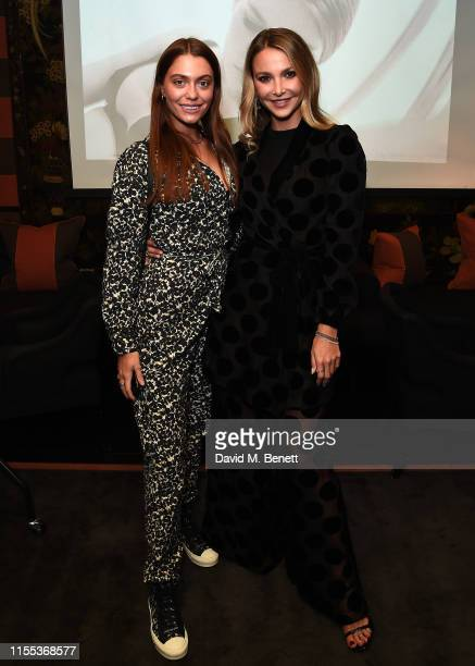 Heloise Agostinelli and Sophie Hermann at Myla private view and trunk show with Sophie Hermann and Susan Shinat Blakes hotel on June 11 2019 in...