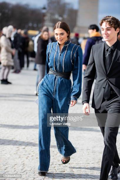 Heloise Agostinelli is seen during Paris Fashion Week Womenswear Fall/Winter 2020/2021 Day Two on February 25 2020 in Paris France