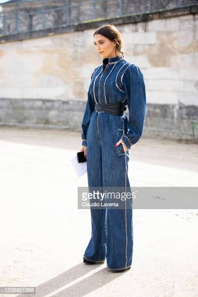 Heloise Agostinelli is seen outside Dior fashion show on February 25 2020 in Paris France