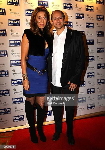 Heloise and Alex Waislitz pose for photographers at the Pratt Foundation's An Intimate Evening with Sir Bob Geldof in support of St Vincent's Cancer...