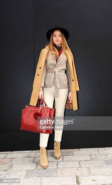 Heloise Chapman Heloise Chapman Beauty PR intern wearing a Massimo Dutti coat Massimo Dutti jacket and Next jeans accessorised with Primark hat...