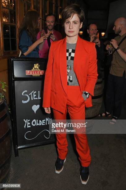 Heloise Letissier aka Christine and the Queens attends a celebration of the Stella McCartney AW17 collection and film launch at Ye Olde Mitre on June...