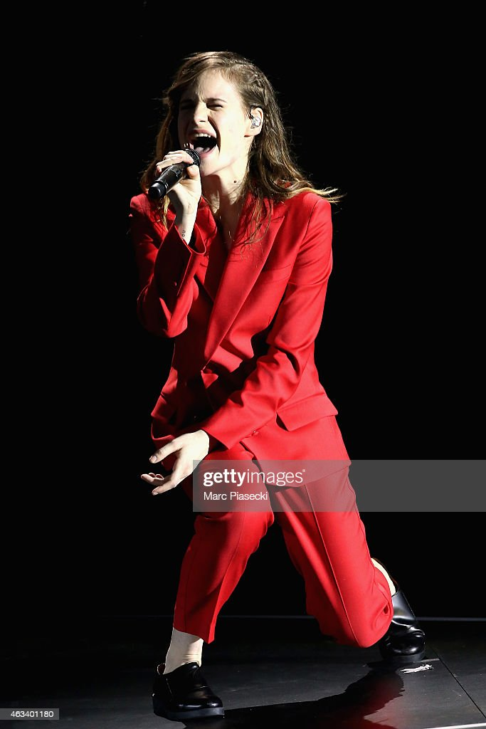 Heloise Letissier aka Christine and the Queens performs during the 30th 'Victoires de la Musique' French Music Awards Ceremony at le Zenith on February 13, 2015 in Paris, France.